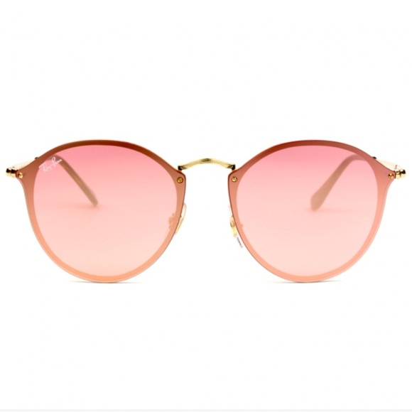 efccef3939 NEW    Ray-Ban Blaze Round Pink Sunglasses
